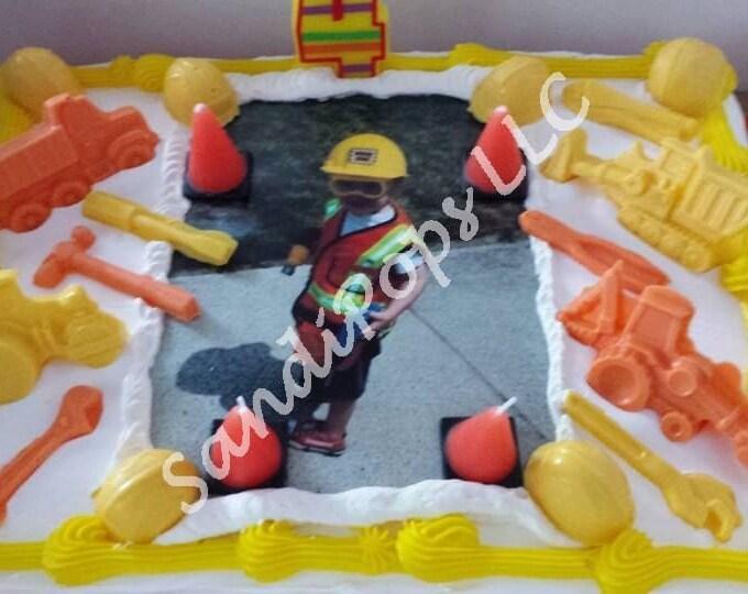 CUSTOM Edible Image & Chocolate Cake topper PACKAGE