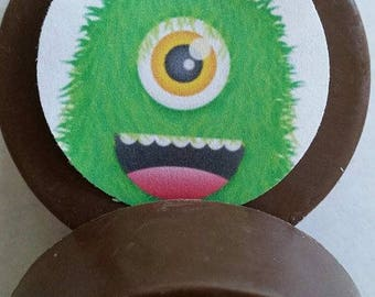 24 cute scary monster halloween lollipops or oreos