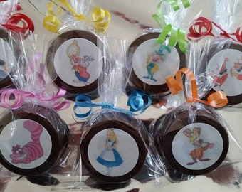 24 Wonderful Edible Image Chocolate covered Oreos or Chocolate Lollipops
