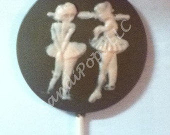 24 ballet dancer recital chocolate lollipops, jazz, pointe, acro