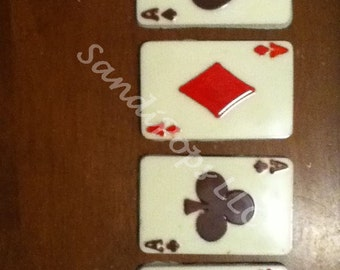 24 Casino style Vegas Edible Chocolate Bar Ace Cards