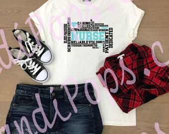 Nurse graffiti art, Sharp objects, gloves &coffee, future nurse, school, calm, messy hair essential tee shirt, vinyl decal appreciation gift