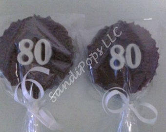CUSTOM ORDER 70 solid 80th birthday pops