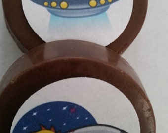 24 Alien, ET, Extra- Terrestrial, Planetarium Chocolate Lollipop Party Favor