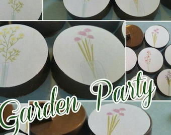 24 shabby Chic baby shower  garden tea party image chocolate covered oreos or chocolate lollipops