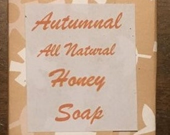 All Natural Honey Soap- Autumn scented, gingerbread, tree shape, cinnamin, clove, orange