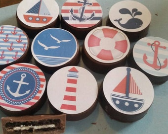 24 summer nautical beach sea starfish water sand sailing party image chocolate covered oreos or chocolate lollipops