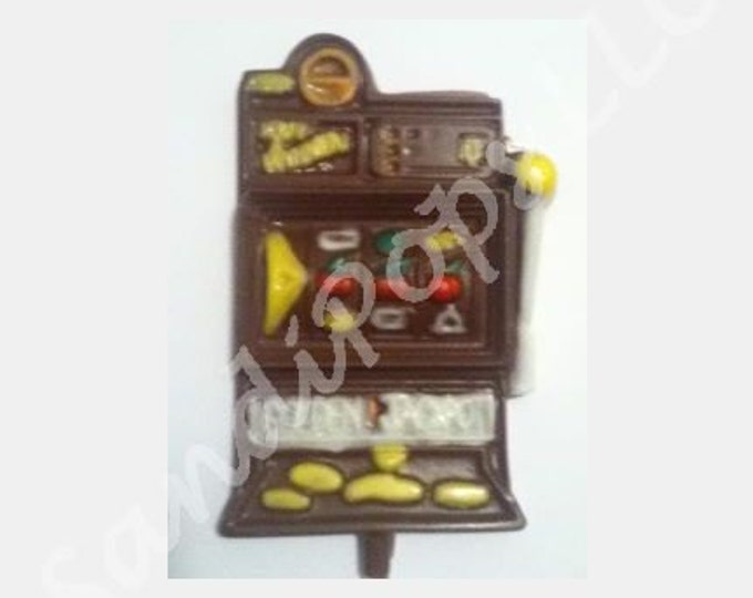 24 SOLID COLOR chocolate slot machines- NOT as pictured