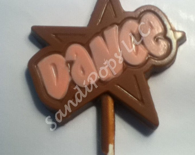 "24 ""DANCE"" Victorious, Shake it Up, BTR, Sam and Cat, 1D chocolate lollipops- solid is cheaper!"