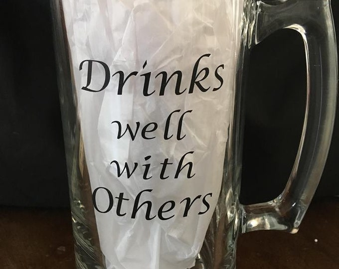 Daddy's Drinks Well With Other Cup Beer mug glass