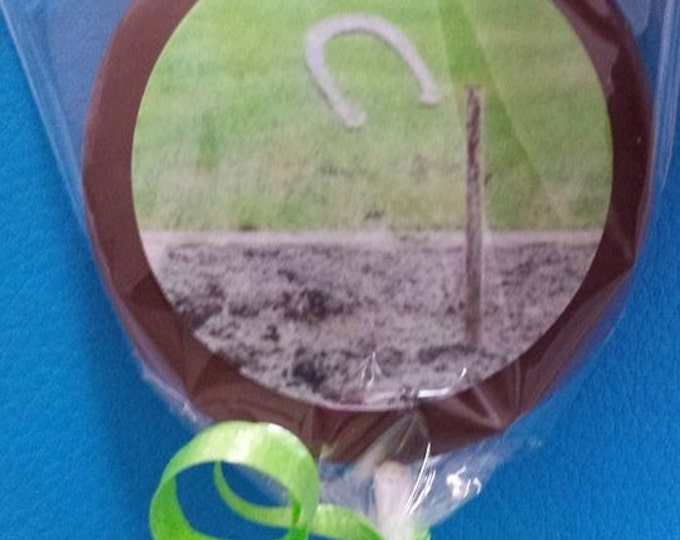 24 Fathers Day horseshow backyard bbq Chocolate Lollipops, dad, love, appreciate