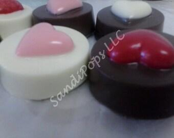 Chocolate covered Love Wedding Anniversary Valentines Oreos