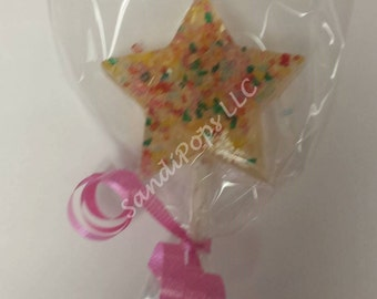 15 STAR -Glittery, sparkly, flavorful hard candy lollipops