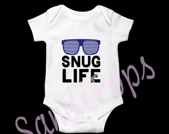 Newborn onesies snug life, naps, cape, hello ladies, house white,