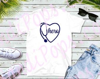 Nurse life, squad, hero, nursing school, i in essential tee shirt, vinyl decal appreciation gift
