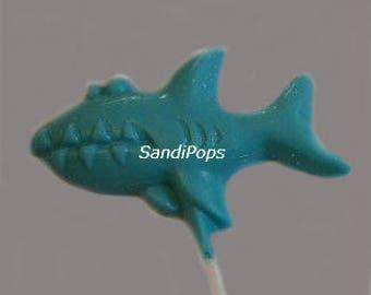 24 Solid Color Sea Creature Under the Sea Chocolate Lollipop