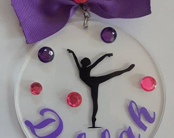 Cheer, sport, dance, skating keychain, back pack tag