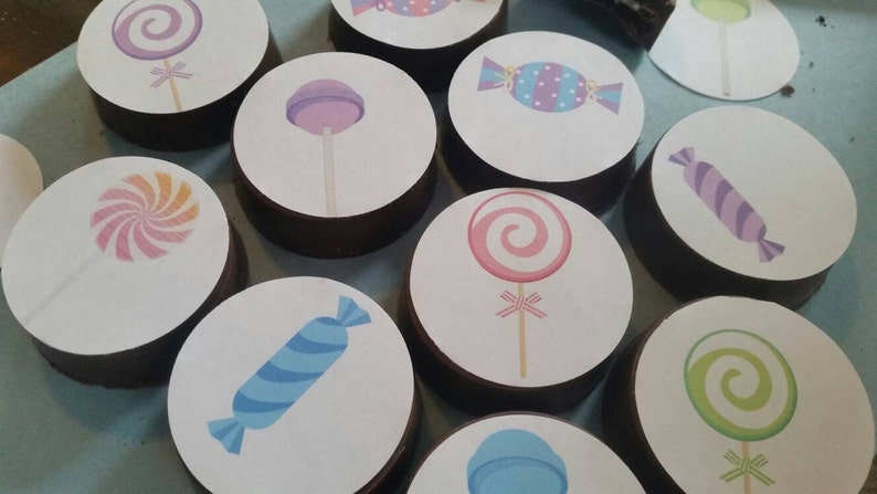 24 sassy cute candy land willy wonka princess party image chocolate covered oreos or chocolate lollipops