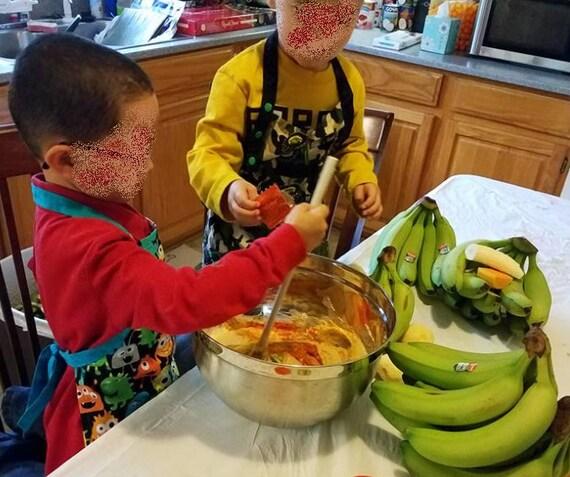 USA handmade kid cooking garden crafts art Child Pirate Apron youth