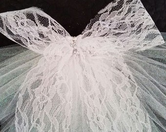 BootyVeils 14.99/Free SHIPPING/ SALE /mini booty veils/Great for Bride or Birthday Batch/Any ocassion/Clips on to Bikini,shorts,skirt, jeans