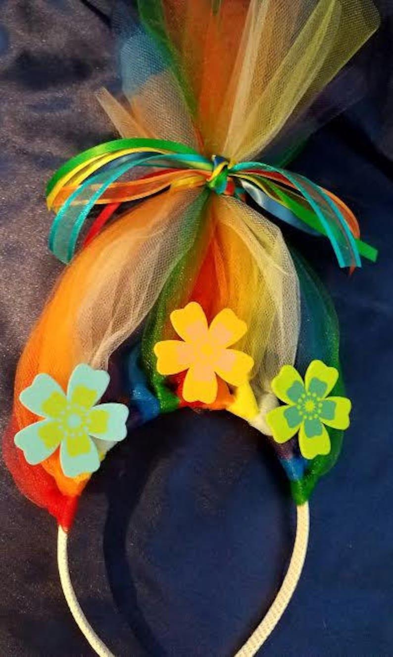or Disney Troll Headbands RAINBOW 12.99 and FREE Shipping Bachelor party Birthday Disney Inspired, any occasion headbands