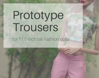 April 2018 BATCH 1 - Prototype Trousers for Made to Move Barbie and Poppy Parker