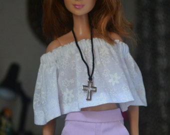 Lavender City Shorts for 12in Fashion Dolls