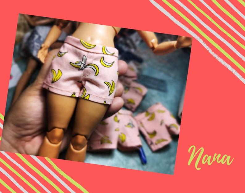 Curvy Summer Fun Shorts for Curvy Barbie dolls