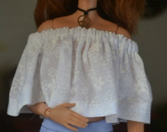 Periwinkle City Shorts for 12in Fashion Dolls