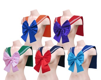 Sailor Moon Senshi Cosplay Collar Costume Adult Sailor Fuku / Seifuku (制服) Cosplay Front Large Bow