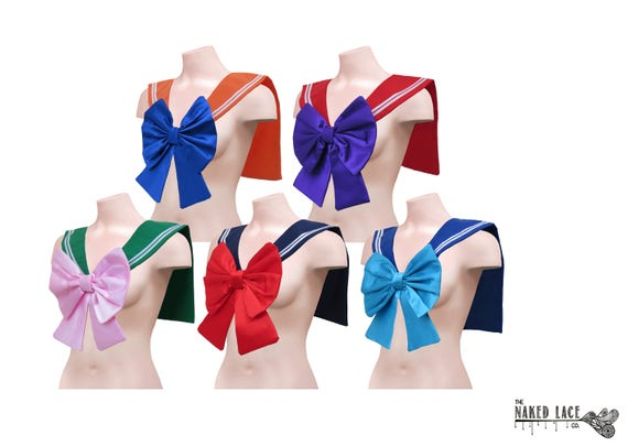 sc 1 st  Etsy & Sailor Moon Senshi Cosplay Collar Costume Adult Sailor Fuku /