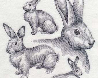 Custom Embroidered Flemish Giant Rabbit Sweatshirt S-3XL