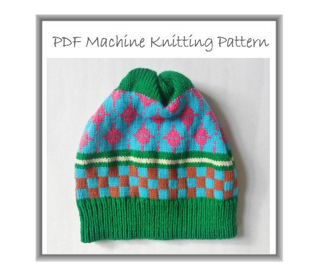 Beanie Hat Machine Knitting PDF Pattern Winter Cap Prem Baby | Etsy