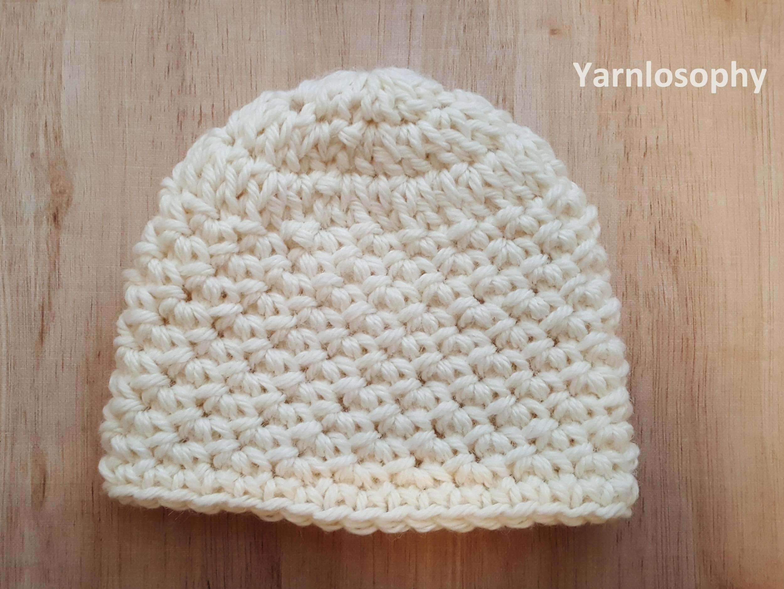 Easy Crochet Hat Pattern Newborn Toddler Teen And Adult Size Etsy