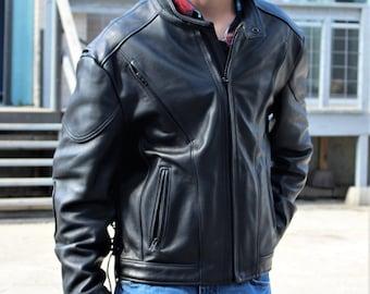 7368467e7bbb Biker Style   Biker Jacket, Streetwear Men, Motorcycle Jacket, Motorcycle Jacket  Men, Black Leather Jacket, Leather Jacket Men, Large, XL