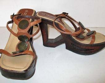 d68cad8e87748 Wood Heel Sandals Women