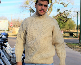 834b9117fde5cc Chunky Sweater | Molly McGrath, Large, Pullover Sweater, Pure Wool, Vintage Chunky  Sweater, Hand Knit, Pullover, Pullover Men, Sweater Men