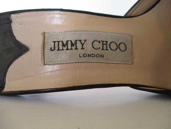 Vintage Jimmy Choo, 90s Black Patent Leather Mule… - image 7