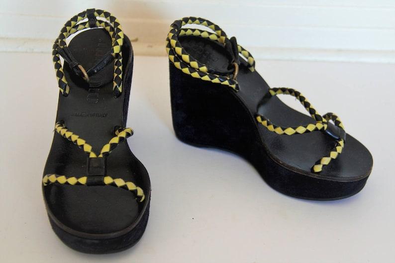 80f1ad383e5 Strappy Sandals Vintage Miu Miu Prada Platform Shoes