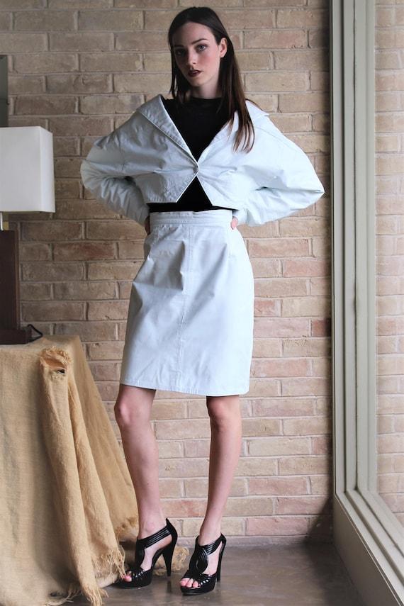 9e1ec1edc0a7 Skirt Outfit Women Vintage Philip Noel Small White   Etsy