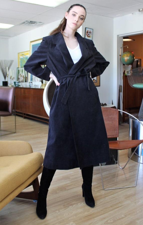 Blue Coat | Wrap Coat, Navy Coat Women, Vegan Fabr
