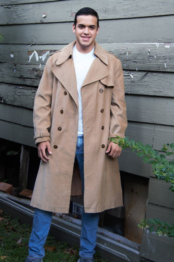 modern and elegant in fashion reputation first shop for genuine Trench Coat | Beged-Or Bis, size 42 Men, Corduroy, Trench Coat Men, Tan  Trench Coat, Coat Men, Corduroy Trench Coat, Vintage 70s, Hipster