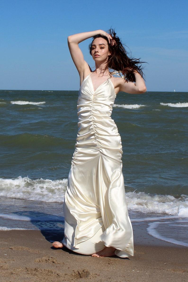 f1f9aabeb65 Ruched Wedding Dress Women Jessica McClintock Small