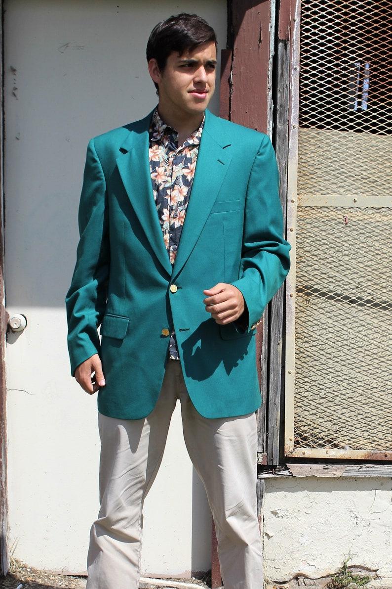 Adrette Kleidung Herren Burberry 44l Petrol Grün Mens Etsy