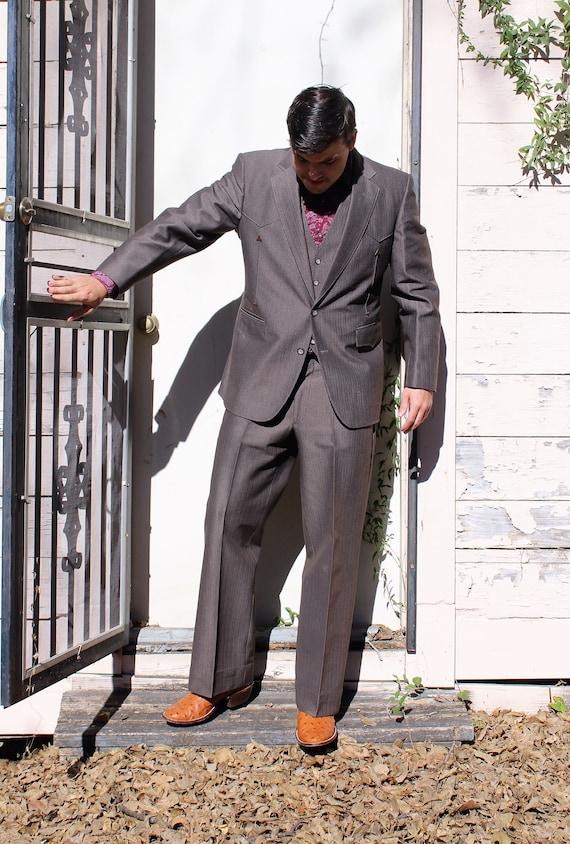 Vintage 3 Piece Western Suit Men | 42R Men, Countr
