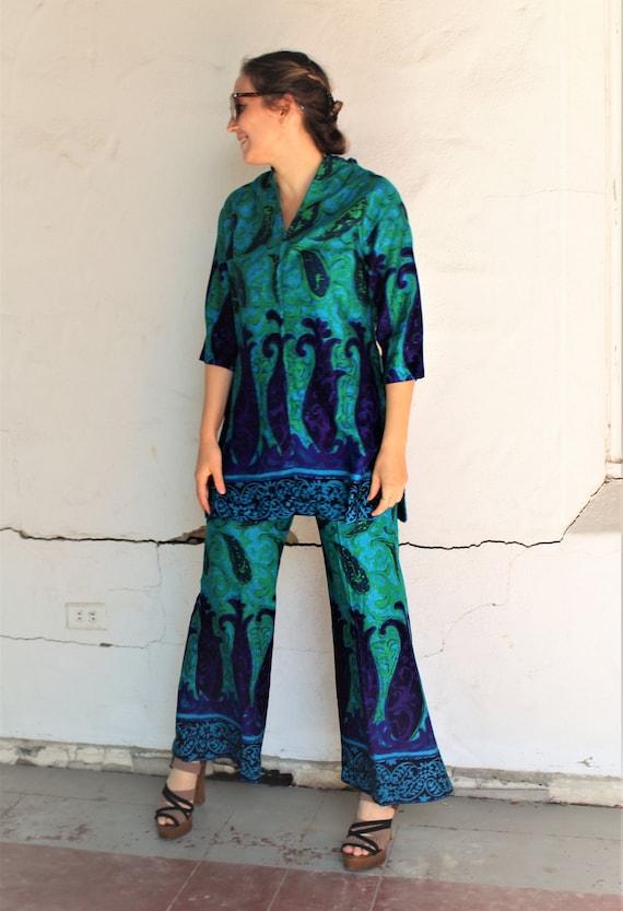 Pantsuit Women | Vintage 60s Kamehameha, Medium, T