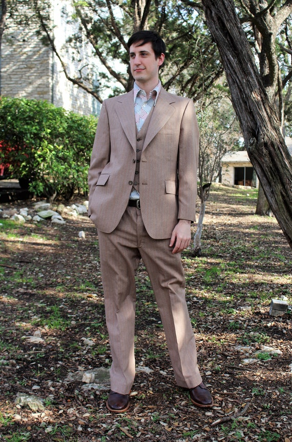70s Mens Clothing | Three Piece Suit, 70s Mens Sui