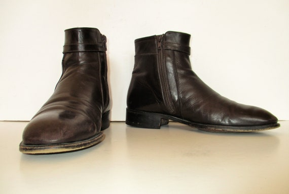 Vintage 1990s Bally Leather Boots, 10 1/2EEE, Ankl