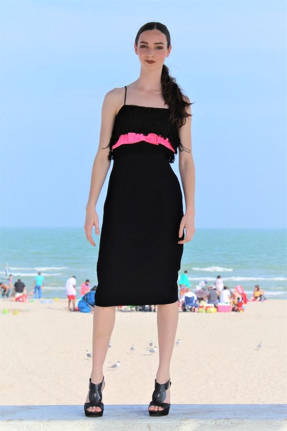 b7fe5e5a16 Black Party Dress Flapper Dress Women XS Fitted Dress