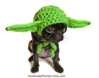 SMALL STAR WARS dog hat costume yoda inspired pet halloween geekery nerdy costumes jedi photo photography prop mashable